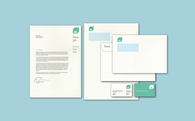 Papirlinje som del af designmanual for JA