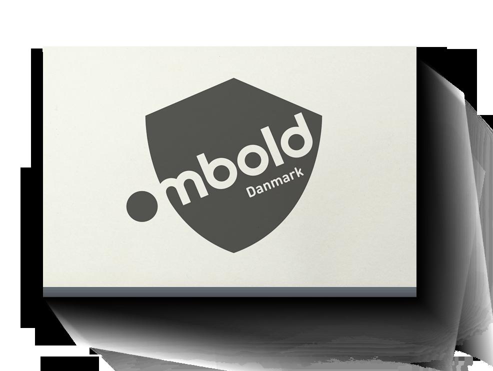 Logodesign som del af visuel identitet til Ombold Gadefodbold