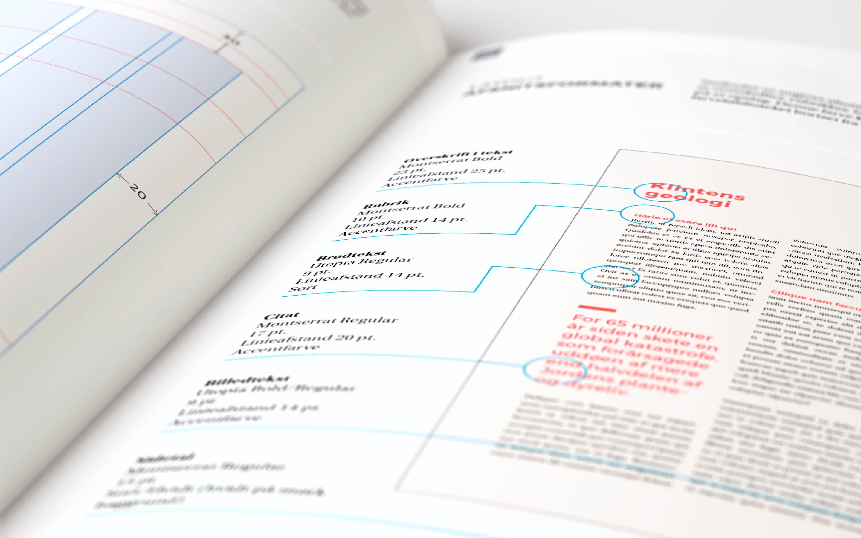 Afsnitsformater som del af designmanual for Verdensarv Stevns