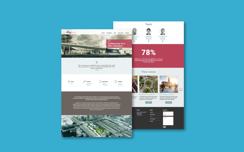 Webdesign som del af visuel identitet for Via Trafik