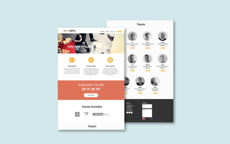 Designanual og webdesign til Aety.io